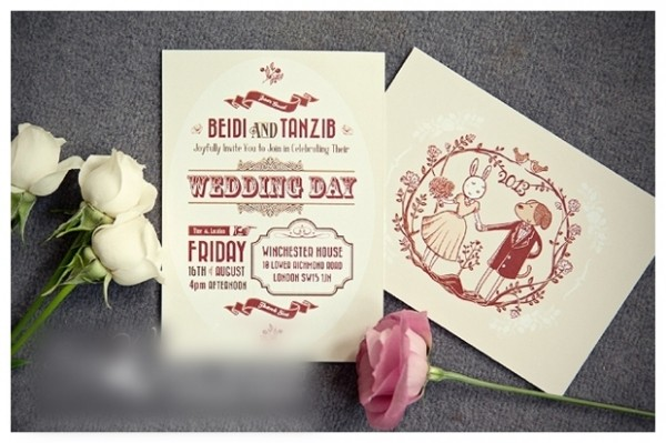 Fashion Wedding Invitation Card