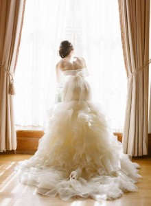 pregnant bride wedding dress