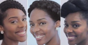 wedding prom natural hairstyles