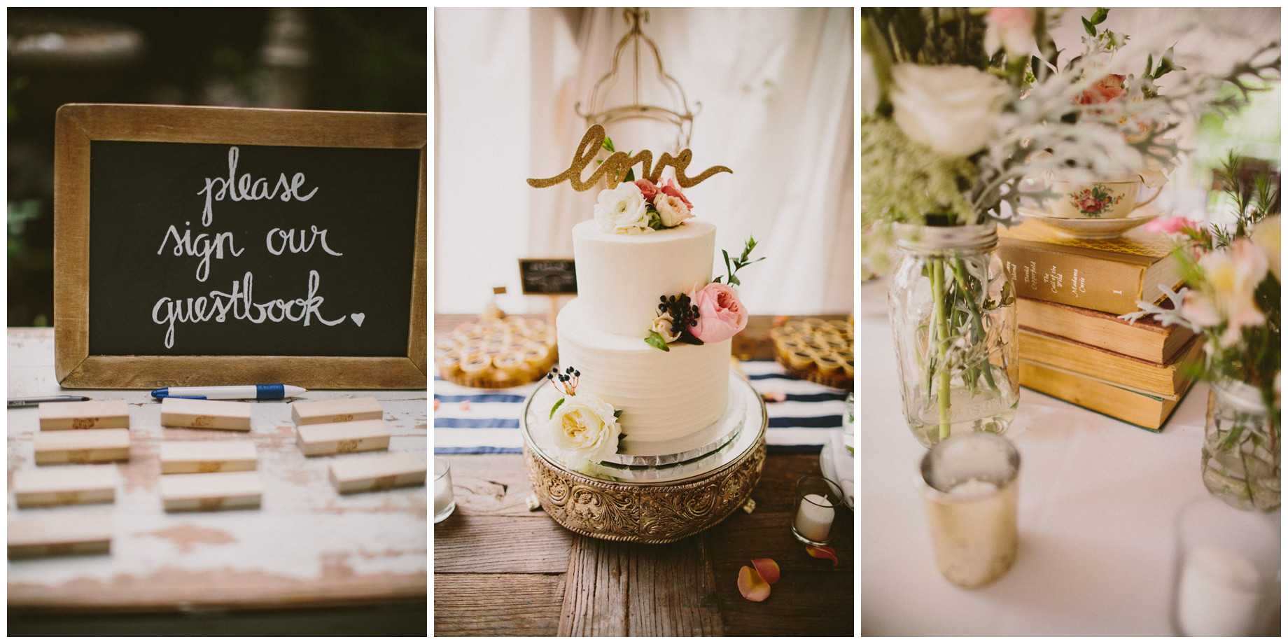 detials of vintage wedding