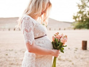 Pregnant Bride in the Wedding