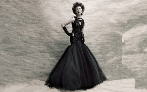 balck wedding dresses