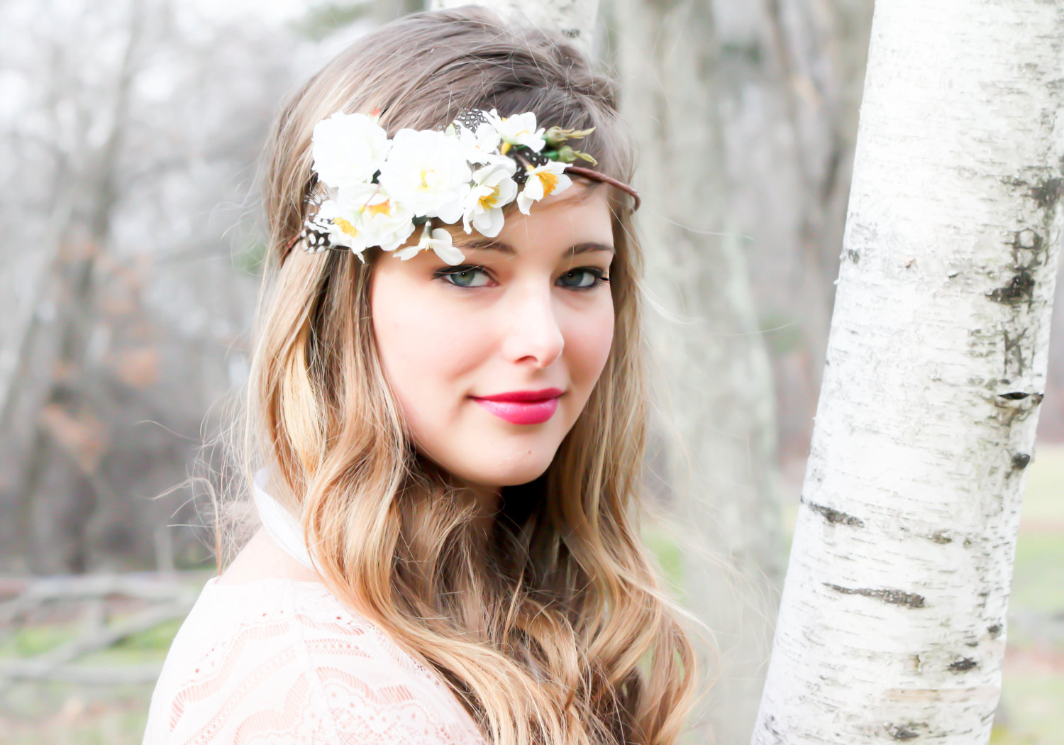 White flower head band image collections flower decoration ideas white flower hair band images flower decoration ideas white flower hair band images flower decoration ideas mightylinksfo