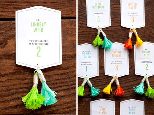 wedding tassel decorations