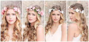 Bride Flower Crown Headband