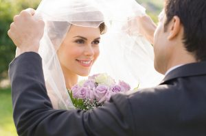 white wedding veils